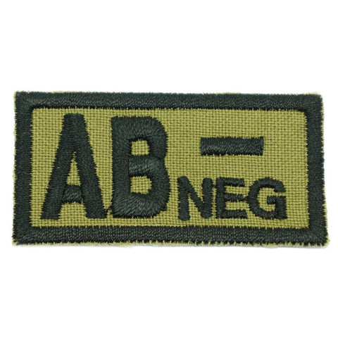 HGS BLOOD GROUP PATCH - AB NEGATIVE (OLIVE GREEN) - Hock Gift Shop | Army Online Store in Singapore