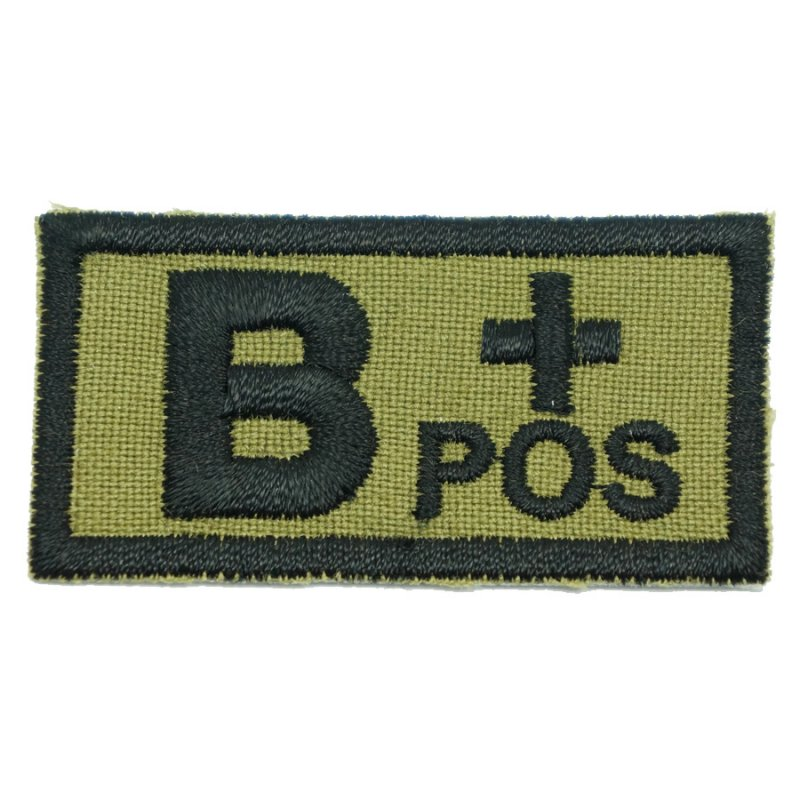 HGS BLOOD GROUP PATCH - B POSITIVE (OLIVE GREEN) - Hock Gift Shop | Army Online Store in Singapore