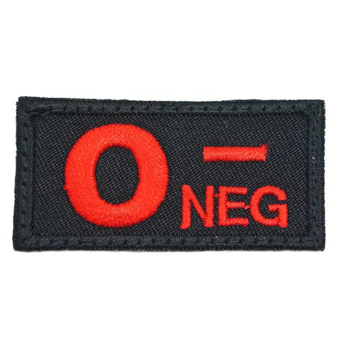 HGS BLOOD GROUP PATCH - O NEGATIVE (BLACK) - Hock Gift Shop | Army Online Store in Singapore