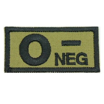 HGS BLOOD GROUP PATCH - O NEGATIVE (OLIVE GREEN) - Hock Gift Shop | Army Online Store in Singapore