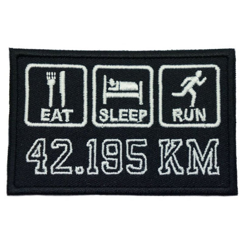 EAT . SLEEP . RUN - BLACK