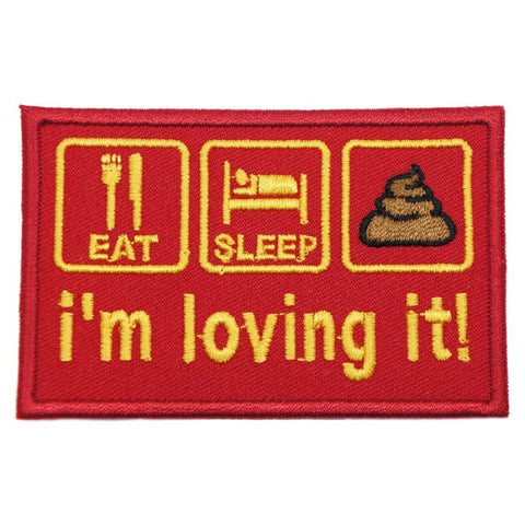 I'M LOVING IT PATCH - RED - Hock Gift Shop | Army Online Store in Singapore