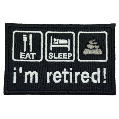 I'M RETIRED PATCH - BLACK - Hock Gift Shop | Army Online Store in Singapore
