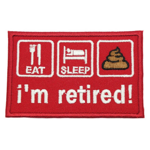 I'M RETIRED PATCH - RED - Hock Gift Shop | Army Online Store in Singapore
