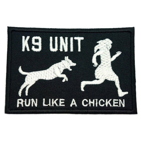 RUN LIKE A CHICKEN PATCH - BLACK - Hock Gift Shop | Army Online Store in Singapore