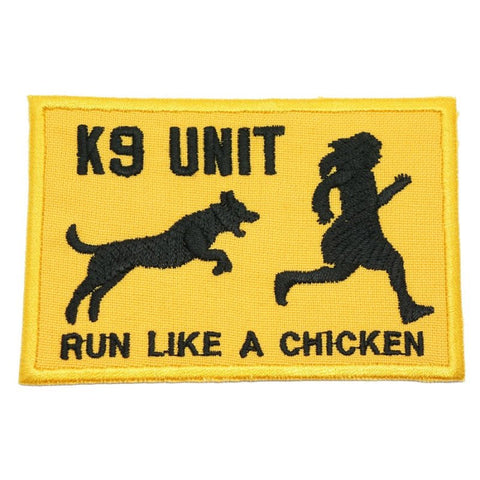 RUN LIKE A CHICKEN PATCH - YELLOW - Hock Gift Shop | Army Online Store in Singapore