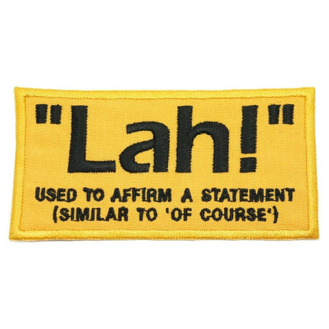 """LAH"" PATCH - YELLOW - Hock Gift Shop 