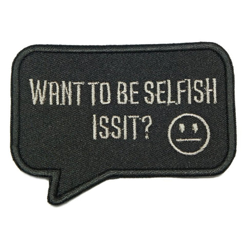 SELFISH PATCH - BLACK - Hock Gift Shop | Army Online Store in Singapore