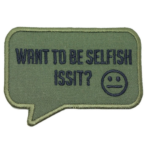 SELFISH PATCH - OLIVE DRAB - Hock Gift Shop | Army Online Store in Singapore