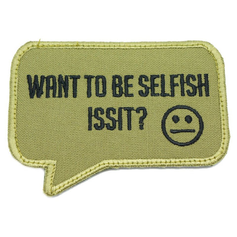 SELFISH PATCH - OLIVE GREEN - Hock Gift Shop | Army Online Store in Singapore