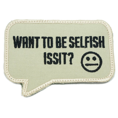 SELFISH PATCH - SAND - Hock Gift Shop | Army Online Store in Singapore