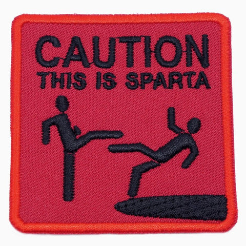 THIS IS SPARTA PATCH - RED WITH BLACK TEXT - Hock Gift Shop | Army Online Store in Singapore