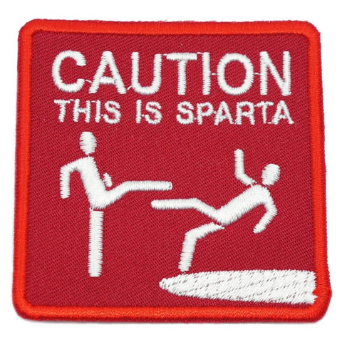 THIS IS SPARTA PATCH - RED WITH WHITE TEXT - Hock Gift Shop | Army Online Store in Singapore