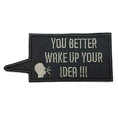 WAKE UP YOUR IDEA PATCH - BLACK - Hock Gift Shop | Army Online Store in Singapore