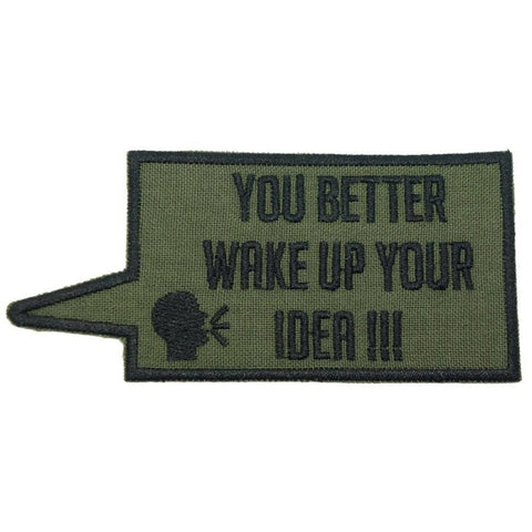 WAKE UP YOUR IDEA PATCH - OD GREEN - Hock Gift Shop | Army Online Store in Singapore