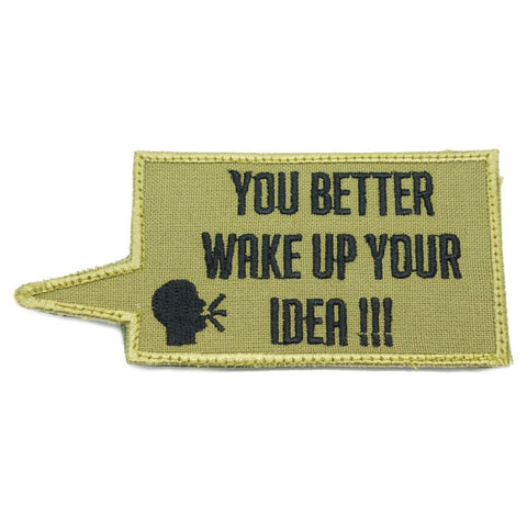 WAKE UP YOUR IDEA PATCH - OLIVE GREEN - Hock Gift Shop | Army Online Store in Singapore