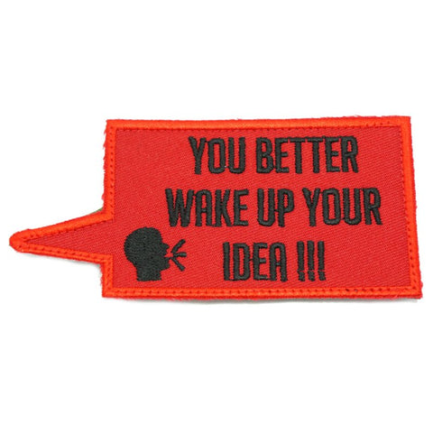 WAKE UP YOUR IDEA PATCH - RED WITH BLACK TEXT - Hock Gift Shop | Army Online Store in Singapore