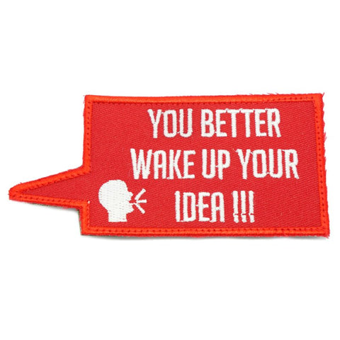 WAKE UP YOUR IDEA PATCH - RED WITH WHITE TEXT - Hock Gift Shop | Army Online Store in Singapore