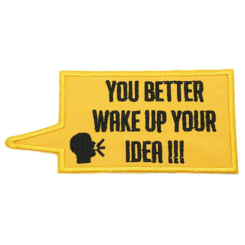 WAKE UP YOUR IDEA PATCH - YELLOW - Hock Gift Shop | Army Online Store in Singapore