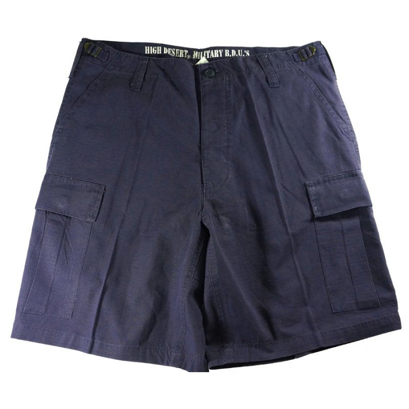 HIGH DESERT PRE-WASHED BERMUDAS - NAVY BLUE - Hock Gift Shop | Army Online Store in Singapore