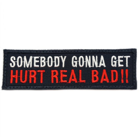 HURT REAL BAD PATCH - BLACK RED - Hock Gift Shop | Army Online Store in Singapore