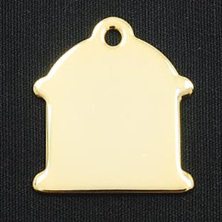 HYDRANT BRASS TAG (GOLD)