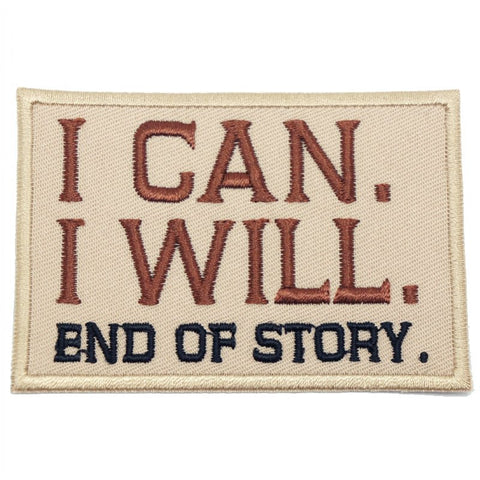I CAN. I WILL. PATCH - BROWN - Hock Gift Shop | Army Online Store in Singapore
