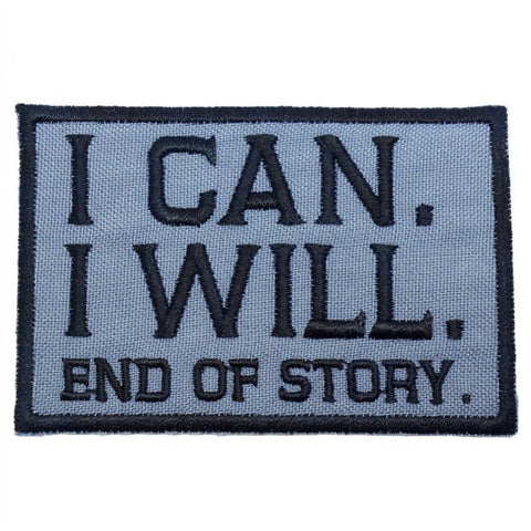 I CAN. I WILL. PATCH - GREY - Hock Gift Shop | Army Online Store in Singapore