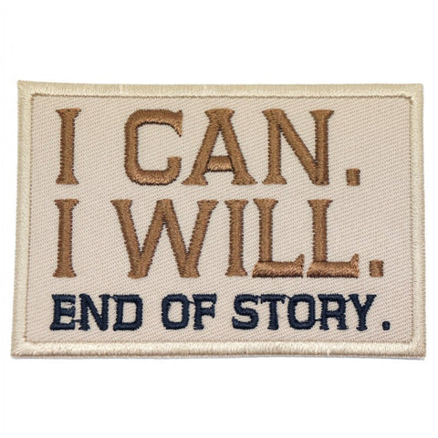 I CAN. I WILL. PATCH - KHAKI - Hock Gift Shop | Army Online Store in Singapore