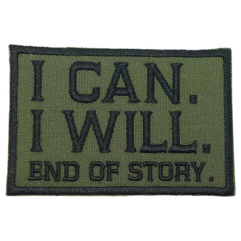 I CAN. I WILL. PATCH - OD GREEN - Hock Gift Shop | Army Online Store in Singapore