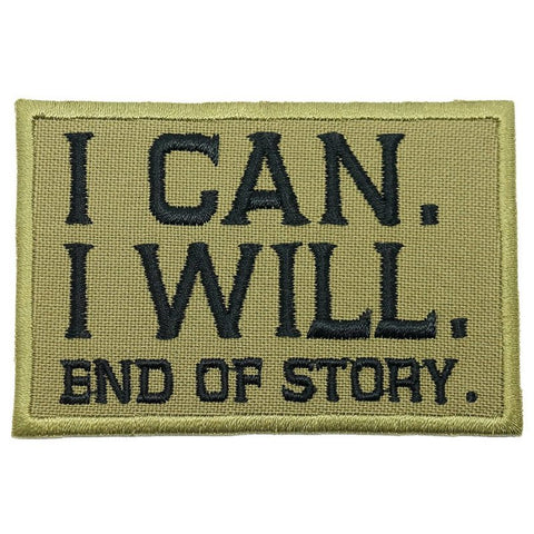 I CAN. I WILL. PATCH - OLIVE GREEN, BLACK - Hock Gift Shop | Army Online Store in Singapore