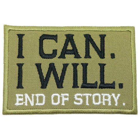 I CAN. I WILL. PATCH - OLIVE GREEN, WHITE - Hock Gift Shop | Army Online Store in Singapore