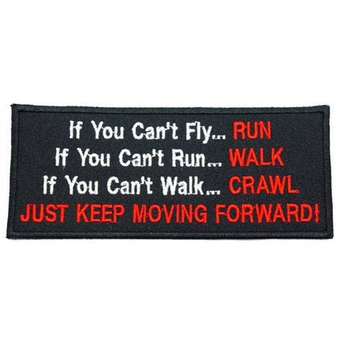 JUST KEEP MOVING FORWARD PATCH - BLACK - Hock Gift Shop | Army Online Store in Singapore