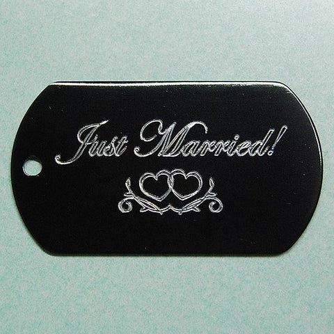 JUST MARRIED! DOG TAG