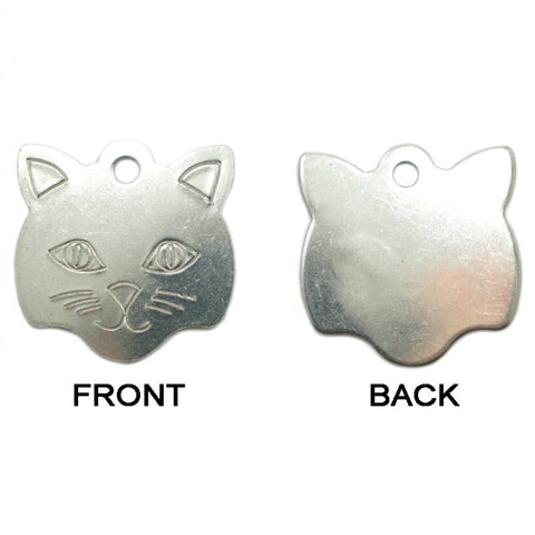 KITTY FACE METAL TAG (LARGE)