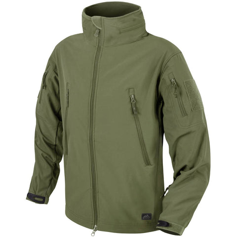 HELIKON-TEX GUNFIGHTER JACKET - SHARK SKIN WINDBLOCKER (OLIVE GREEN)