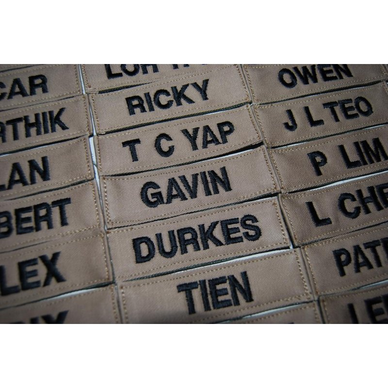 LBV NAME TAG (BOLD FONT, VELCRO BACKING) - Hock Gift Shop | Army Online  Store in Singapore