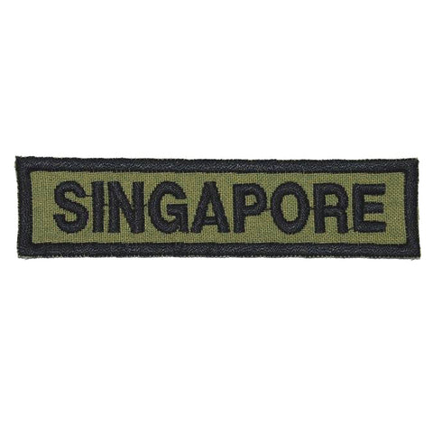LBV SINGAPORE COUNTRY TAG - OLIVE GREEN - Hock Gift Shop | Army Online Store in Singapore