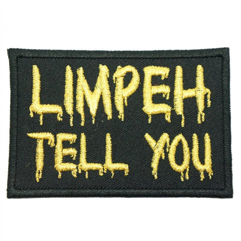 LIMPEH TELL YOU PATCH - BLACK WITH GOLD - Hock Gift Shop | Army Online Store in Singapore