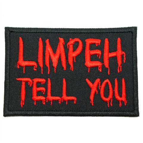 LIMPEH TELL YOU PATCH - BLACK WITH RED - Hock Gift Shop | Army Online Store in Singapore