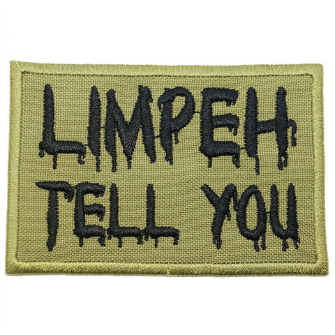 LIMPEH TELL YOU PATCH - OLIVE GREEN - Hock Gift Shop | Army Online Store in Singapore