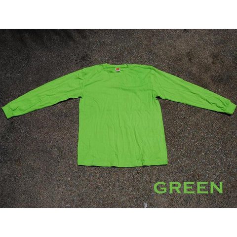 HGS LONG SLEEVE ROUND NECK T-SHIRT - GREEN - Hock Gift Shop | Army Online Store in Singapore