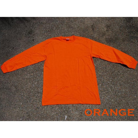 HGS LONG SLEEVE ROUND NECK T-SHIRT - ORANGE - Hock Gift Shop | Army Online Store in Singapore