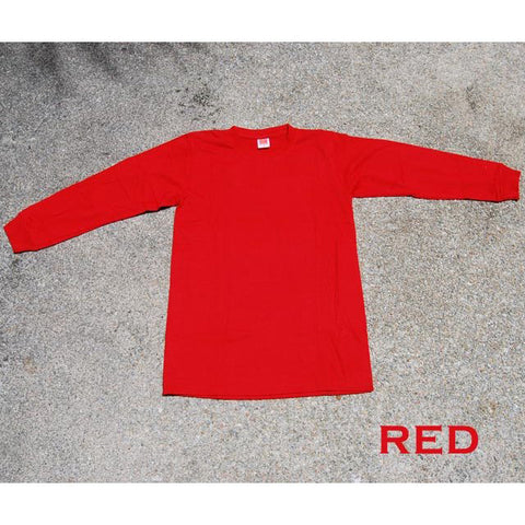 HGS LONG SLEEVE ROUND NECK T-SHIRT - RED - Hock Gift Shop | Army Online Store in Singapore