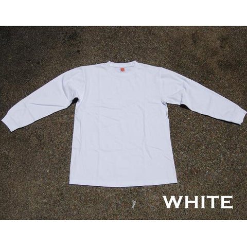 HGS LONG SLEEVE ROUND NECK T-SHIRT - WHITE - Hock Gift Shop | Army Online Store in Singapore