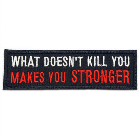 MAKES YOU STRONGER PATCH - BLACK RED - Hock Gift Shop | Army Online Store in Singapore