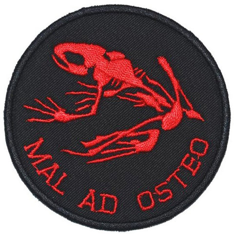 MAL AD OSTEO PATCH - BLACK RED - Hock Gift Shop | Army Online Store in Singapore