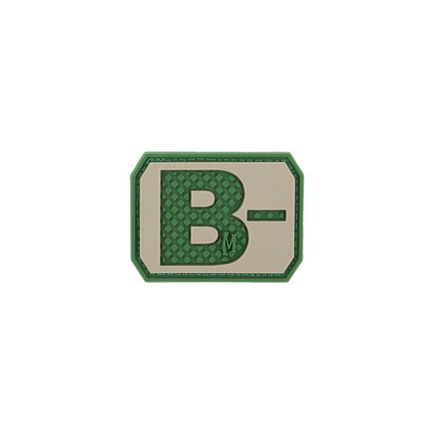 MAXPEDITION B- NEG BLOOD TYPE PATCH - ARID - Hock Gift Shop | Army Online Store in Singapore