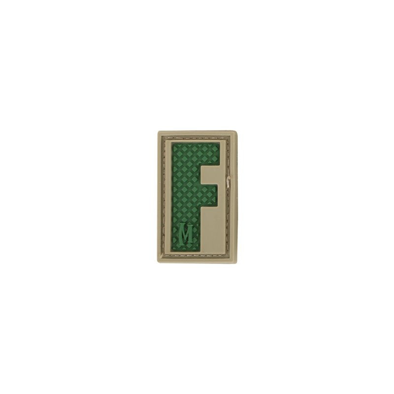 MAXPEDITION LETTER F PATCH - ARID - Hock Gift Shop | Army Online Store in Singapore