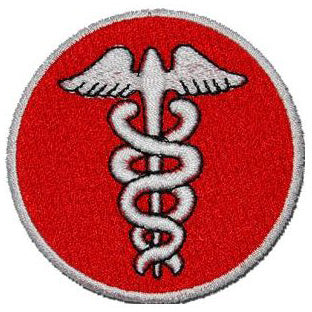 MEDICAL WING PATCH - RED - Hock Gift Shop | Army Online Store in Singapore